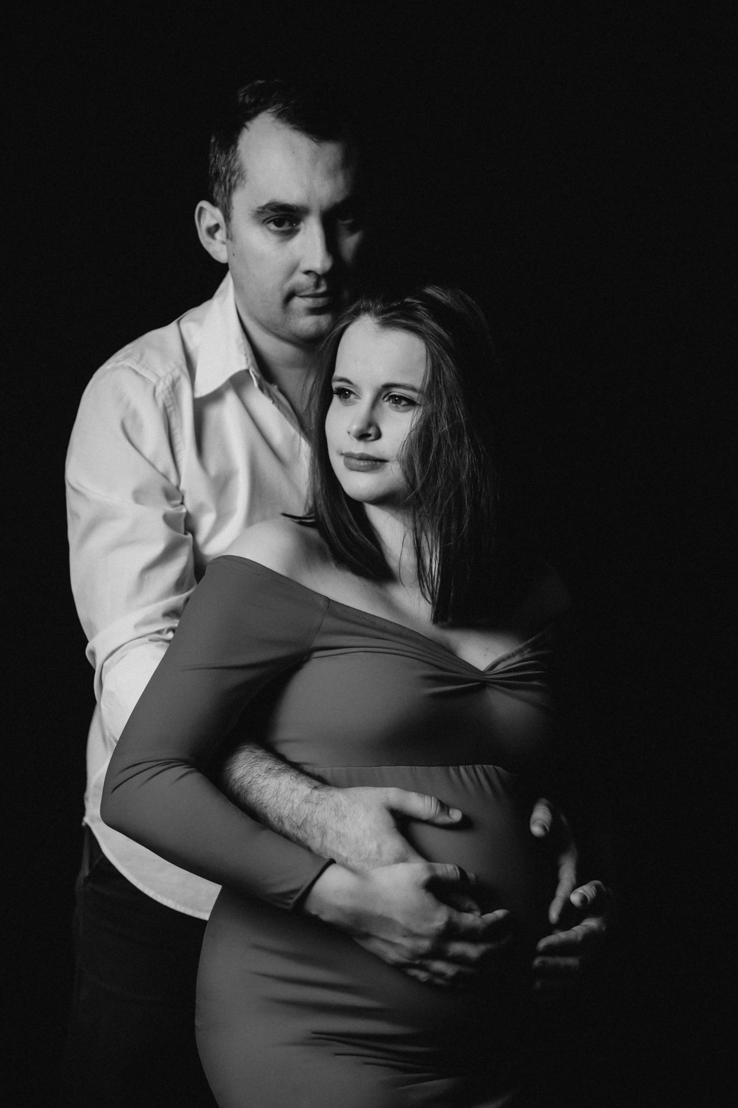 para na sesji ciążowej